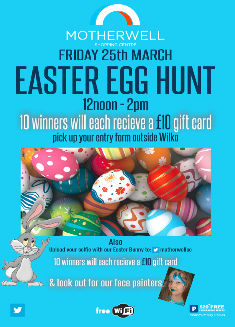 Easter friday fun day 25th march motherwell shopping centre negle Images